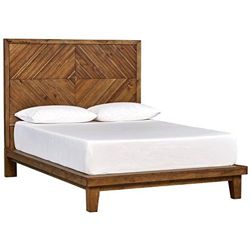 - Rivet Brecken Modern Wood Queen Bed, 64