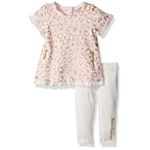 Juicy Couture baby-girls Baby Baby Girls 2 Pieces Pants Set - Pockets on Tunic