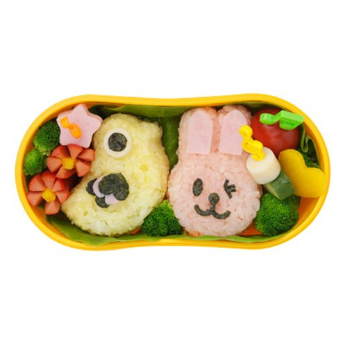 SALUS animal rice ball type 4P (rabbit, fish, panda-chick) (japan import)