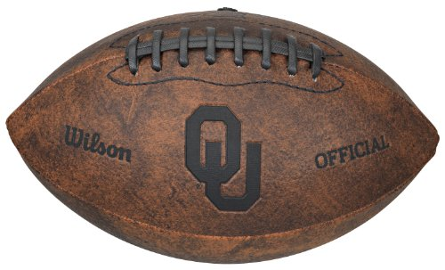 NCAA Oklahoma Sooners Vintage Throwback Football, 9-Inches (Sooners Football compare prices)