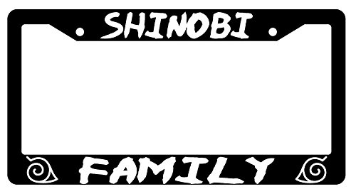 Shinobi Family High Quality Black Plastic License Plate Frame -