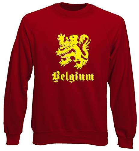 T0701 Calcio Girocollo shirtshock T Ultras Belgio Belgium Rossa Felpa Uomo AfXxFwOq