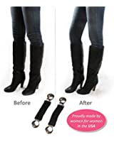 Boot Clips, Boot Straps -- Boot Snugs Pant Clips for Smooth Jeans in Boots (Black)