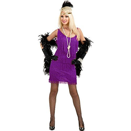 [Purple Fashion Flapper Girl Adult Costume] (Flapper Girl Costume For Adults)