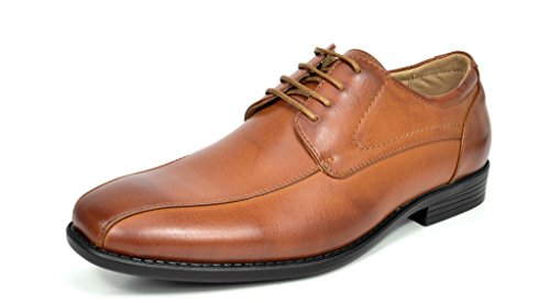 s Formal Modern Leather Wing Tip Loafers Lace Up Classic Lined Oxford Dress Shoes Brown Size 13 (Formal Shoes)