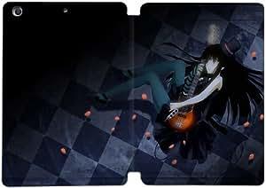 Cubierta de cuero y caja de la PC funda / soporte para funda de Apple iPad Mini 1,2,3 funda Con Magnetic reposo automático Función de despertador DIY por Mio From K On Anime R8H3Hk8U2Yo