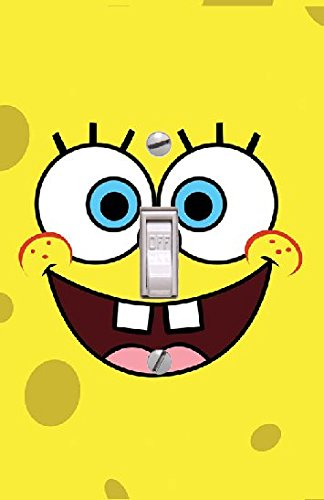 (Sponge Bob Square pants - Light switch Cover- Switch Plate Cover-Wall plate cover)