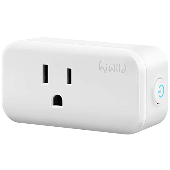 hiwild Smart Plug, Mini Wifi Outlet homekit Compatible with Alexa & Google Home, No Hub Required smart plug outlet timer outlet socket set remote voice ...