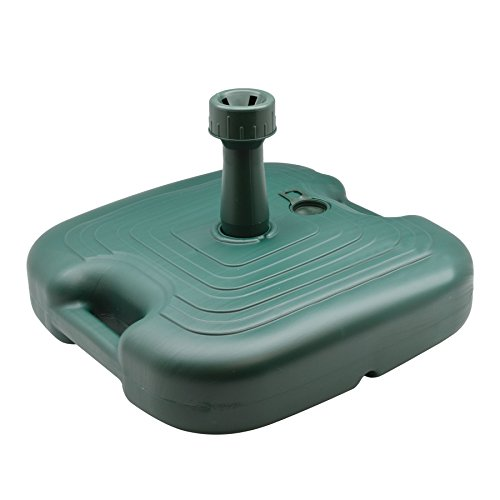 - Resol Parasol Umbrella Sunshade Base Stand Holder - Green Plastic - Fill with Sand/Water