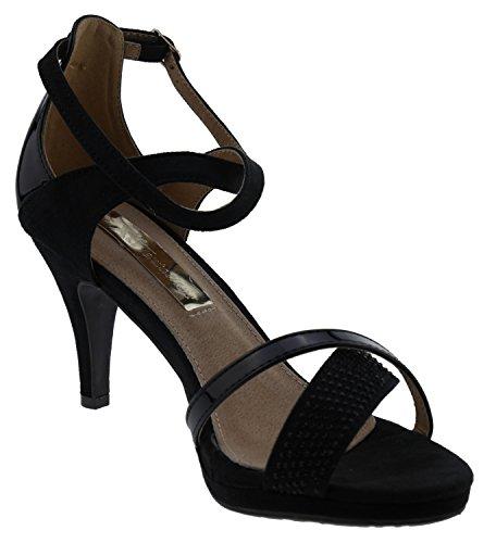 Xti Arriere Black 030123 Femme Bride Noir Sandales Noir Black wqftWPwrn