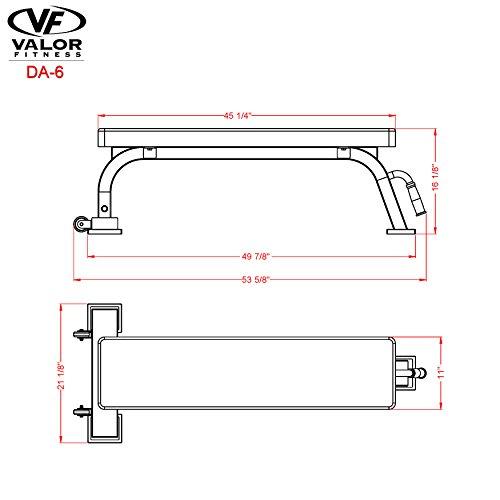 Valor Fitness DA-6 Flat Bench by Valor Fitness (Image #6)'