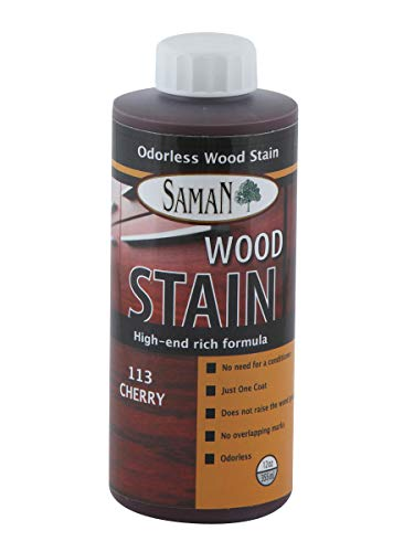 SamaN Interior Water Based Stain for Fine Wood, Cherry, 12 oz