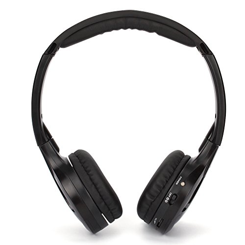 NAVISKAUTO Wireless On-ear Headphone Headset, Pack of 1 -Black (Wireless Headphones Ir Dual Channel)