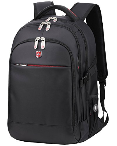 "Swiss Ruigor 6192 Water Resistant Backpack Fit For 15.6"" Laptop and Notebook - Black"