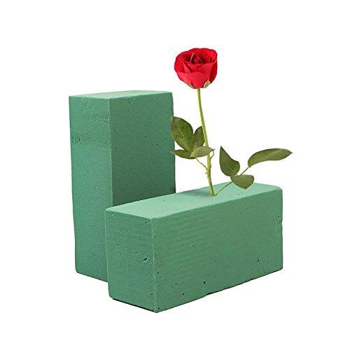 Floral Foam Flower Foam Blocks Green Colorful Dried Flower/Florist Flower Artificial Flowers Wedding Bouquet Holder Craft Green Bricks ()
