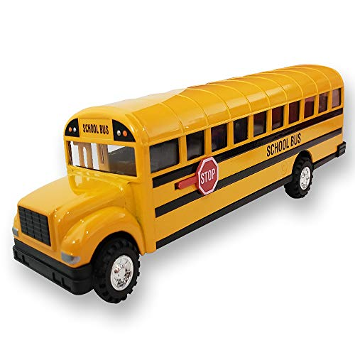 - ArtCreativity Die Cast Yellow School Bus Toy for Kids | 8.5
