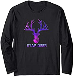 Star Deer Long Sleeve T-shirt 2 sided