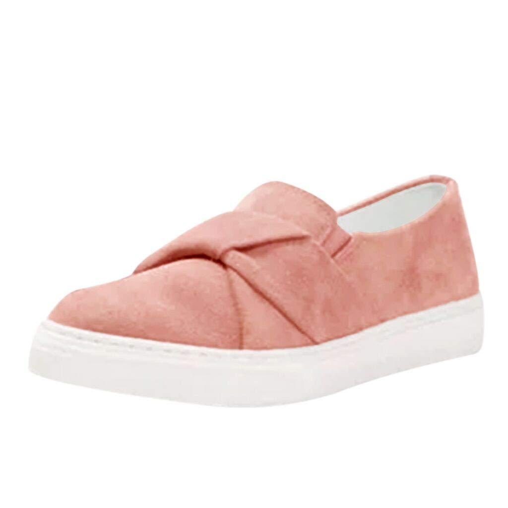 Luckhome Damenschuh Damen Sneaker Damenschuhe Klettverschluss Fitnessschuhe Schuhe Erbsen der Art- und Weisefrauen beschuht Sommer beiläufige Flache einzelne Schuh-Gummiband-Schuhe