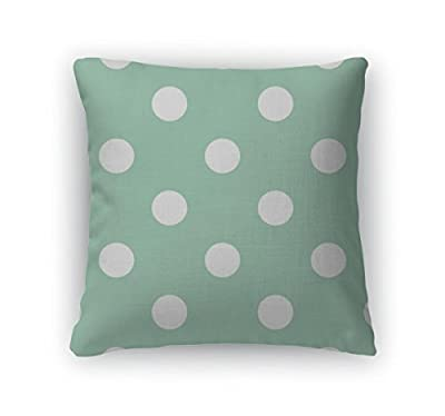 Gear New Zippered Retro Pattern with Polka Dots Square Pillow