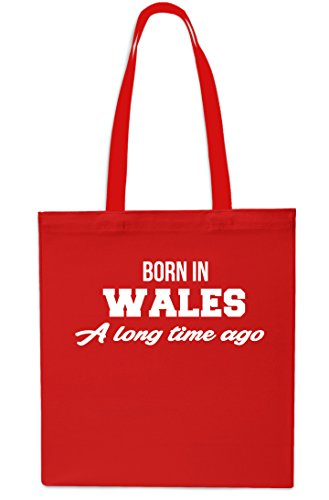 Born In Wales A Long Time Ago Tote Shopping Gym Beach Bag 42cm x38cm, 10 litres-Small-Red Red