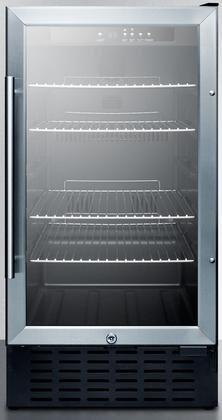 Summit SCR1841BCSSADA Undercounter Beverage Refrigeration, Glass/Stainless-Steel