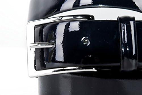 Pierre Cardin Cintura uomo blu lunga 120 cm cinta in pelle lucida smoking R4081