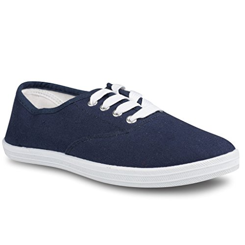Twisted Women's Tennis Basic Athletic Lace Up Sneaker - Navy, Size 8