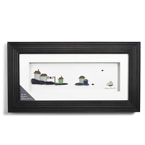 DEMDACO On The Horizon Espresso Finish 15 x 8 Dimensional Framed Wall Art -