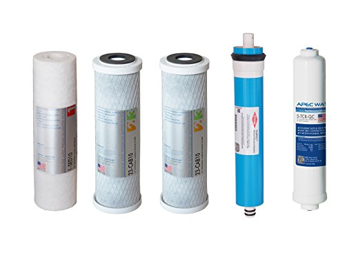 APEC Sift-MAX45 US MADE 45 GPD Complete Replacement Filter Set for ULTIMATE Series Reverse Osmosis Water Filter System