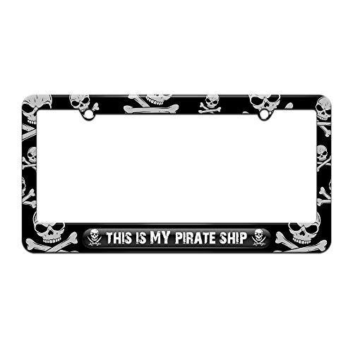 pirate license plate frame - 1