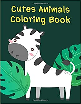 Cute Animals Coloring Book Christmas Coloring Pages For