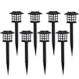AILATAN 8 Pack Solar Pathway Lights Outdoor,Waterproof Outdoor Garden Lights,Outdoor Landscape Lighting for Garden, Landscape, Path, Yard, Patio, Driveway, Walkway-(Warm White)