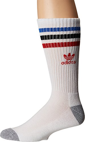 Galleon - Adidas Originals Men s Originals Roller Single Crew Sock White  Blue Black Scarlet Heather Grey Large aa9f2c565