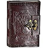 Leather Vintage Celtic Tree of Life Book of Shadows Blank Spell Book Wicca by Vintage Crafts