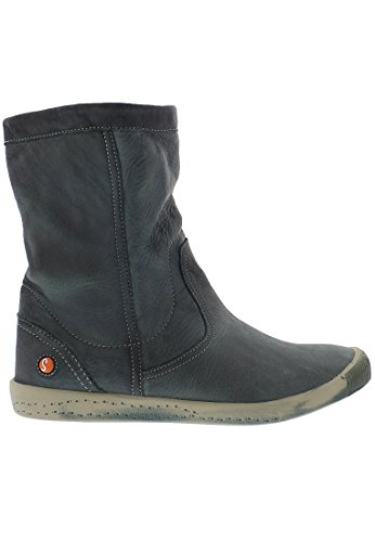 Softinos Damen Iggy269sof Washed Schlupfstiefel Blau