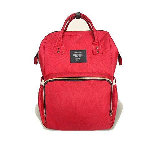 Waterproof Diaper Bag Red - 4