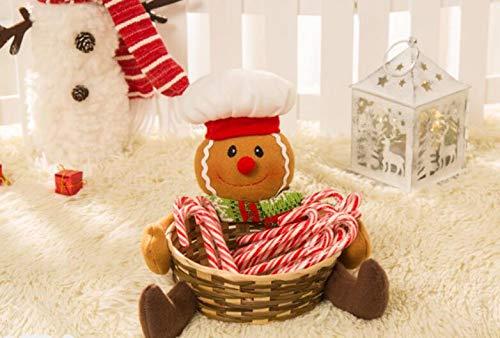 Décorations de fêtes de jardin Belle Gingerbread Man Figure Porte-Panier De Noël Bonbons Biscuits Bonbons ou Accessoires Titulaire De Décoration De Noël 18x17 cm ShireyStore