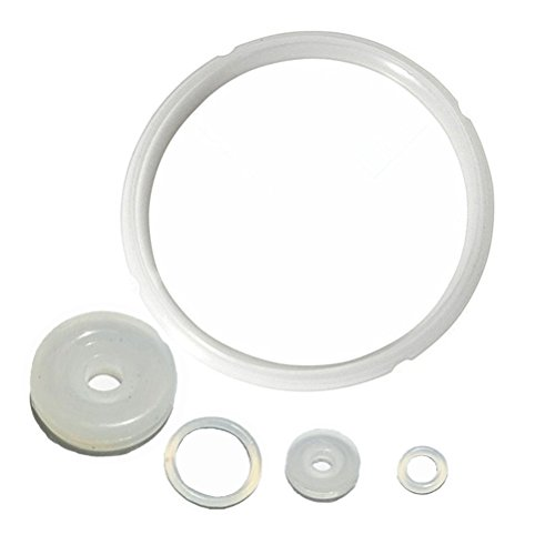 Silicone Sealing Ring and Pressure Cooker Gaskets for 6 qt and 5 qt - Set of 5
