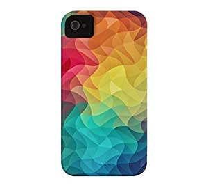 Abstract Color Wave Flash iPhone 4/4s White Barely There Phone Case
