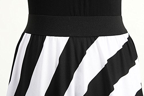 JXLOULAN Summer Womens Vest Slim était Mince Stripe Mopping The Floor Beach Dress