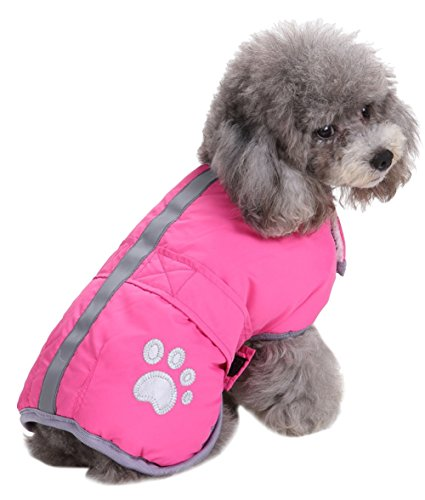 Cold Weather Dog Coats Loft and Reversible Winter Fleece Dog Vest Waterproof Pet Jacket Available in Extra Small, Small, Medium, Large and Extra Large sizes (Pink, S)
