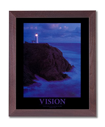 Framed Cherry VISION Motivational Ocean Lighthouse Pictures Art Print