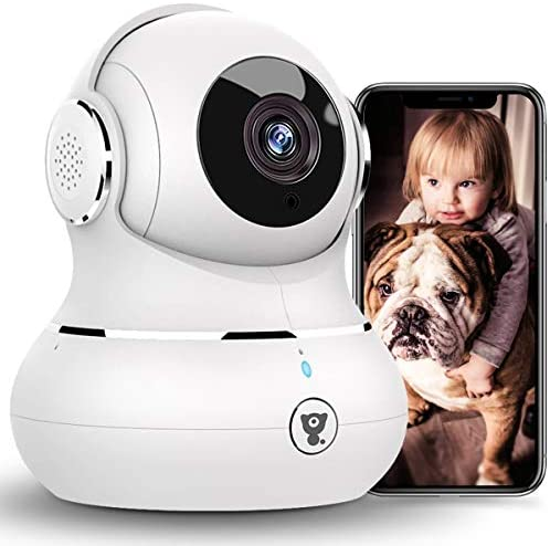 [2021 New] Indoor Security Camera, Littlelf 1080P WiFi Home Cameras with App for Phone, Pet Camera Baby Monitor with Night Vision, Motion Detection, Support Cloud & SD Card Storage
