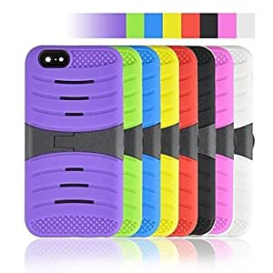 YULIN Angibabe 2 in 1 Stripe Pattern Plastic and Silicone Cover for iPhone 6 , White