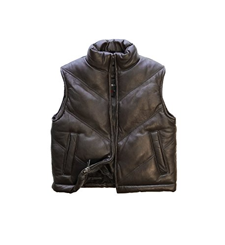 childrens-genuine-lambskin-leather-chevron-bubble-vest-toddlers-boys-girls