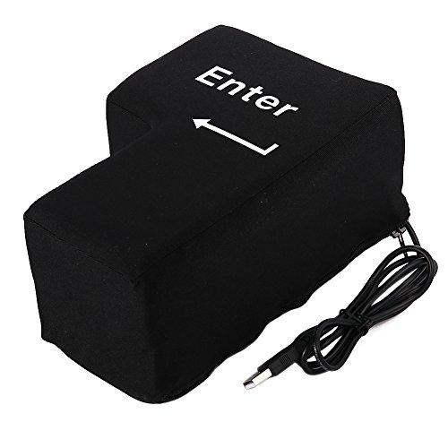 Alician Big Enter Pillow, Supersized USB Big Enter Key Office Desktop Nap Pillows, Stress Relief Vent Tools (Enter Key)