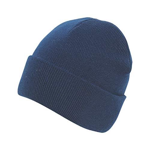 Beanie azul mixta punto marino solapa con Absolute de Apparel 5A0wwqp