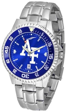Linkswalker Mens Air Force Falcons Competitor Steel Anochrome Bezel Watch