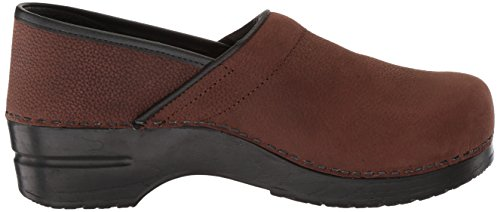 Sanita Women's Clog Oil Brown Textured Pro Signature Antique vZxrdqAvw