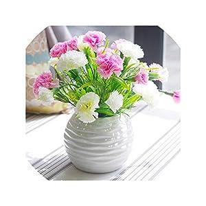 Carnation Simulation Flower Set False Decoration Festival Gift to Parents Teachers Fake Plants Artificial Plant Desktop Craft,2 13